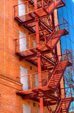 Fire escape on the facade Stock Images