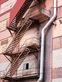 Fire Escape on a Factory Building. Fire Escape on the outside of a Factory Building royalty free stock images