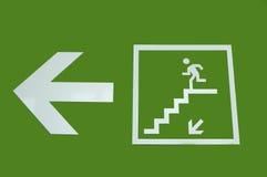 Fire escape on green screen vector illustration