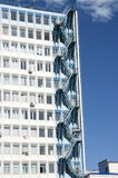 Fire escape on the high-rise building Stock Image