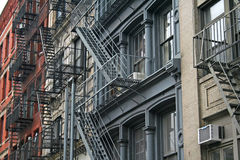Fire escape New York Stock Images