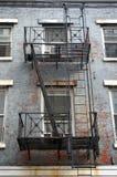 Fire escape New York. Fire escape in old New York apartment building Stock Image