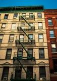 Fire escape in new york city Stock Photos