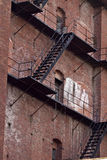 Fire Escape on Old Brick Building 2 Stock Photography