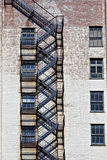 Fire escape on old building Royalty Free Stock Photo