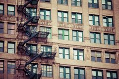 Fire escape on an old building Stock Photography