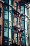 Fire escape on an old building Stock Image