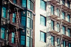 Fire escape on an old building Royalty Free Stock Photography