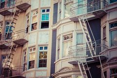 Fire escape on an old building Royalty Free Stock Images
