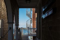 Fire Escape on a Old Building Stock Photography