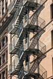 Fire escape at an old   house Royalty Free Stock Photography