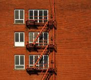 Fire Escape Red Brick Royalty Free Stock Photography