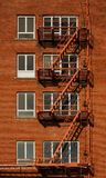 Fire Escape Red Brick Vertical Royalty Free Stock Photo