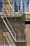 Fire escape in  San Francisco , building with windows and emerg Stock Image