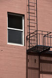 Fire escape in  San Francisco , building with windows and emerg Stock Photos