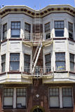 fire escape in  San Francisco , building with windows and emergency stairs Stock Image