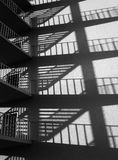 Fire escape and shadows Royalty Free Stock Images