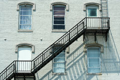 Fire escape on the side of a building Royalty Free Stock Image