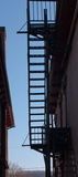 Fire Escape Silhouette Royalty Free Stock Photo