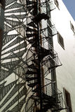 Fire escape spiral stairs Stock Image