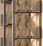 Fire Escape Stair Royalty Free Stock Image