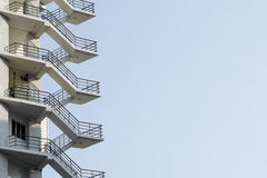 Fire escape stair Royalty Free Stock Images