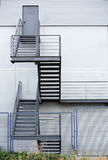 Fire escape staircase in a modern building Royalty Free Stock Image