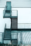 Fire escape staircase in a modern building Stock Image