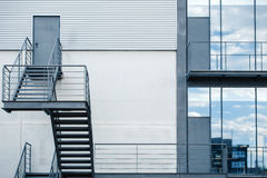 Fire escape staircase in a modern office building Royalty Free Stock Images