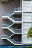 Fire escape stairs royalty free stock images