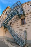 Fire escape stairs at historical building. National Theater in O Royalty Free Stock Image