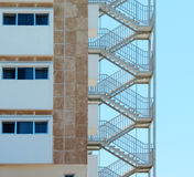 Fire Escape Stairs at a Hotel Royalty Free Stock Photo
