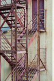 Fire escape stairs on manufacturing building Stock Photo