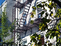 Fire Escape Stairs in NYC Royalty Free Stock Images