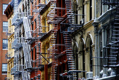 Fire escape stairways in New York Royalty Free Stock Photography