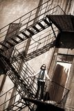 Fire Escape Tween Stock Photography
