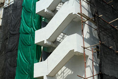 Fire escape under construction Royalty Free Stock Images