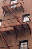 Fire escapes Royalty Free Stock Images