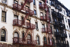Fire escapes Royalty Free Stock Photography