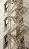 Fire escapes Royalty Free Stock Photos