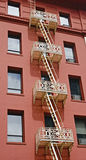Fire Escapes On Apartment Buildings Stock Photography