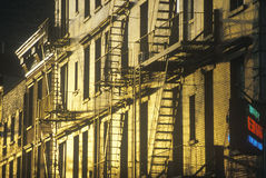 Fire escapes in Greenwich Village Stock Photography