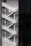 Fire escapes Royalty Free Stock Image