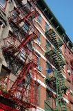 Fire Escapes in New York City Royalty Free Stock Image