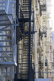 Fire escapes in New york Royalty Free Stock Images