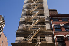 Fire Escpaes in New York City Stock Image