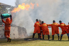 Fire exercise Royalty Free Stock Images