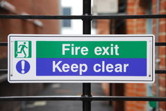 Fire exit stock images