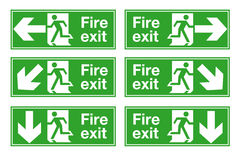 Fire Exit. Sign for emergency exit Royalty Free Stock Images