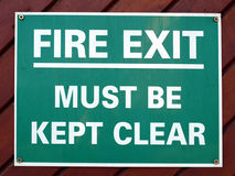 Fire exit Royalty Free Stock Photography